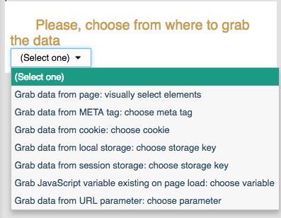 CRM integration grab data select