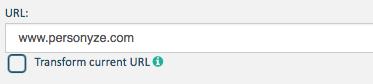 redirect url personalization
