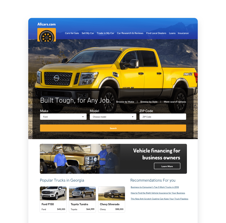 homepage personalization