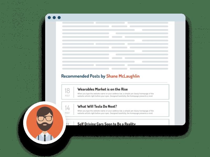 content recommendations widget