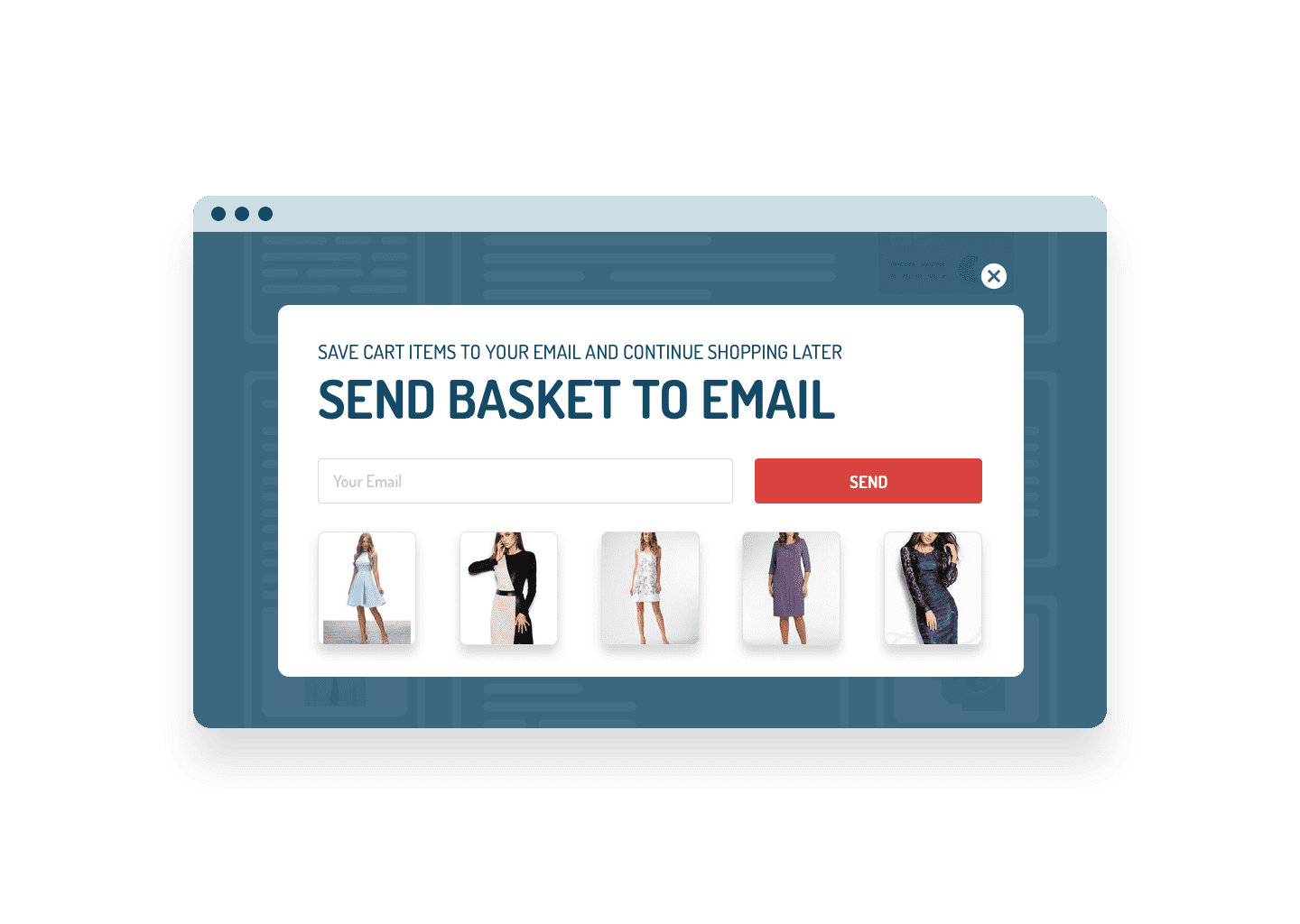 Exit Intent Popup Email Me My Cart Form