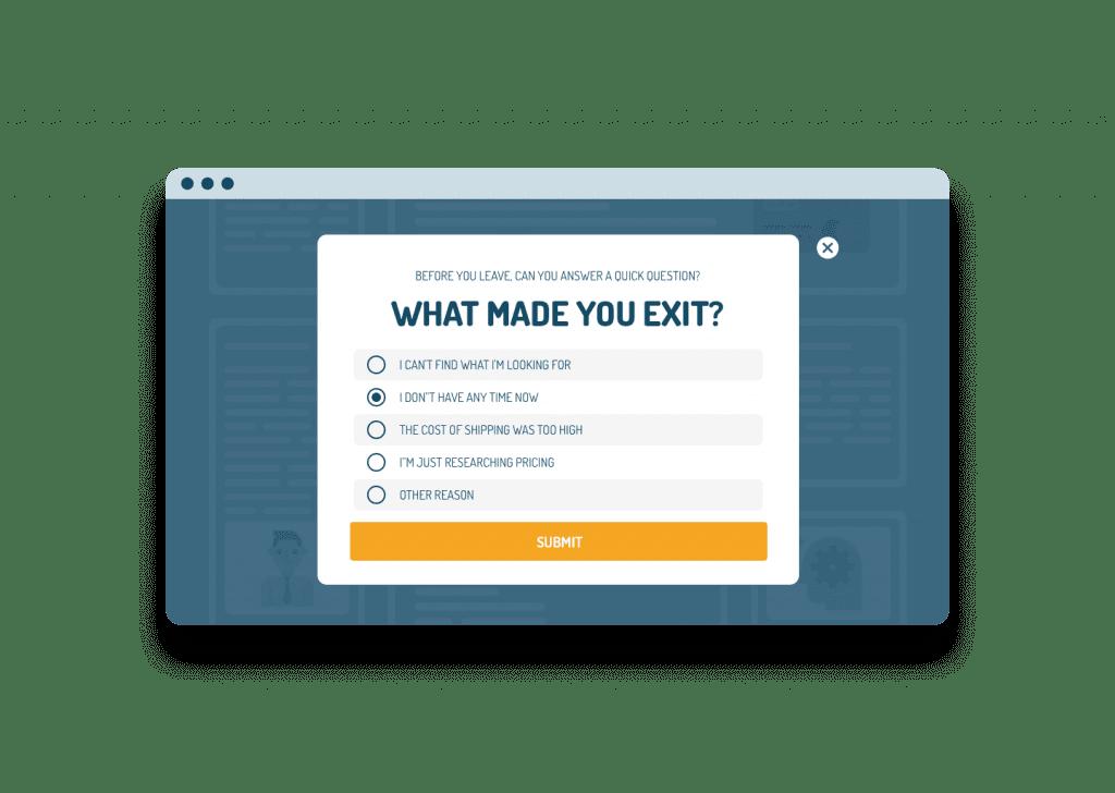 Exit Popup with a Survey