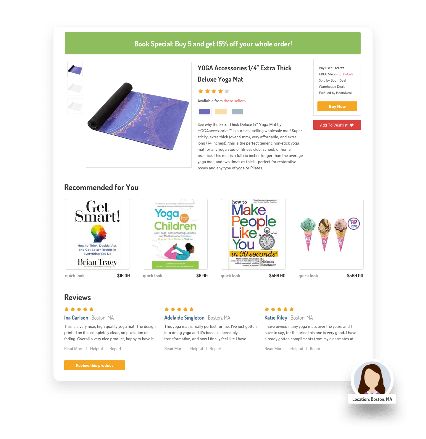 DYNAMIC CUSTOMER REVIEW